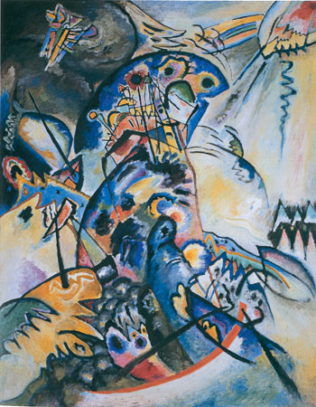 Kandinsky: Pente azul escuro