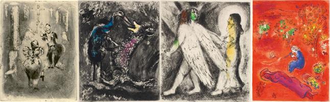 Almas Mortas (Gogol), O Lobo e a Cegonha (La Fontaine), Jacó e o Anjo (Bíblia) e Dafne e Cloé