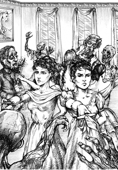 As irmãs Bennet formam a estrela de 5 pontas em uma manobra para exterminar os zumbis que invadem o baile