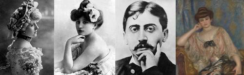 Emilienne D'Alençon, Colette, Marcel Proust e Misia (por Renoir)