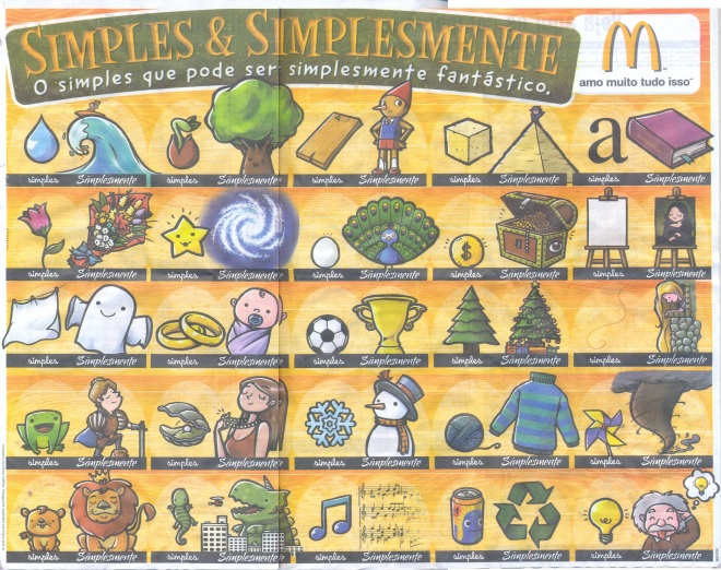 Simples e Simplesmente. Campanhad as bandejas do McDonald's