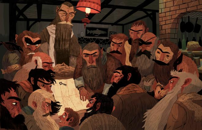 The Hobbit (ilustração de Sam Bosma)