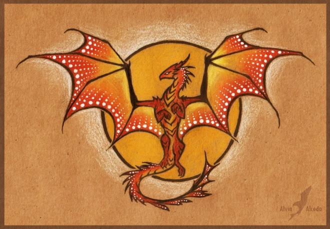 Sun Dragon. Tattoo design by AlviaAlcedo (deviantart.com)