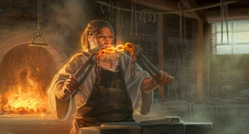 Forging the chain - by Mike Capprotti. © Fantasy Flight Games