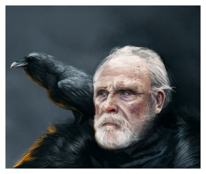 Jeor Mormont, the 997th Lord Commander of the Watch. Artwork by Rene Aigner©