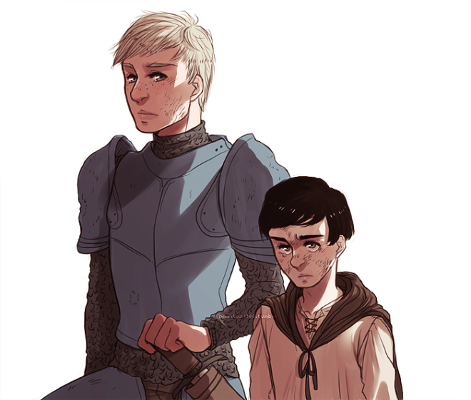 GOT: brienne and podrick by kyupons (Deviantart.com)