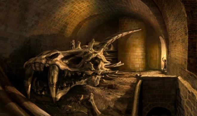 Dragon skulls in the Red Keep cellars © Fantasy Flight Games