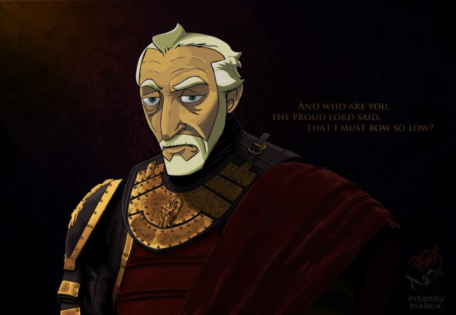Tywin Lannister, The Old Lion by Ubergimp (Deviantart.com)