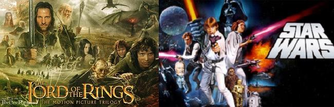 O Senhor dos Anéis e Guerra nas Estrelas: sagas de fantasia seminais