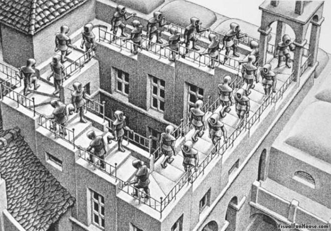 M.C. Escher Ascending and Descending (litograph, 1960)
