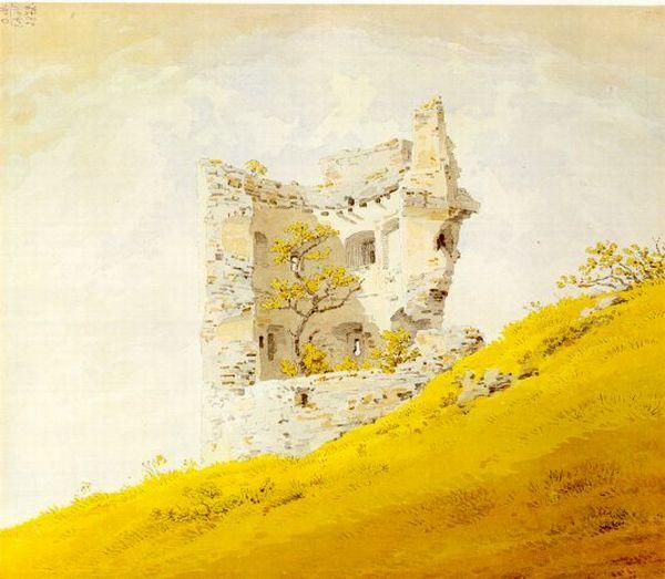 Caspar David Friedrich: The Ruins of Teplitz Castle