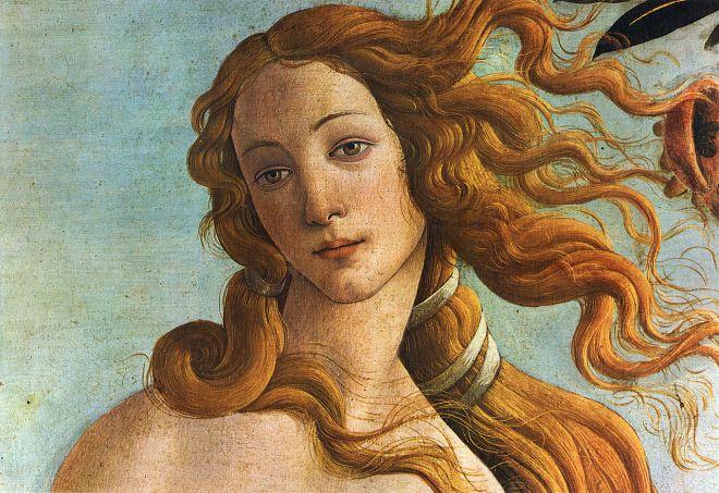 Botticelli: O Nascimento de Vênus (detalhe)