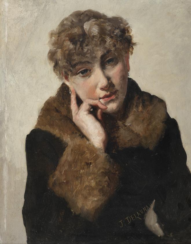 Jules-Élie Delaunay: Portrait de femme