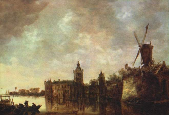 Jan Van Goyen: Landscape with a Windmill and a Ruined Castle