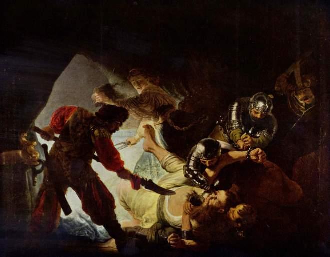 Rembrandt: Die Blendung Simsons