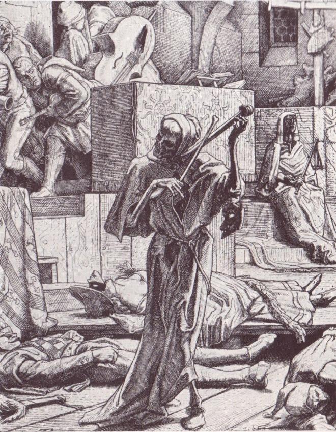 A Dança da Morte - xilogravura de Alfred Rethel