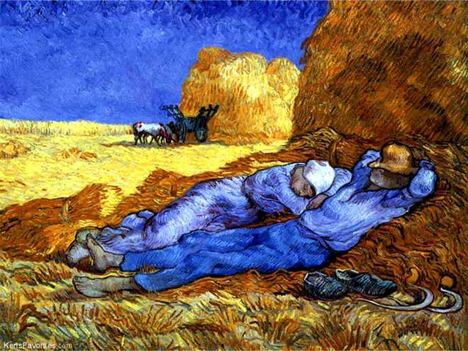 Vincent Van Gogh: Noon rest from work after Millet