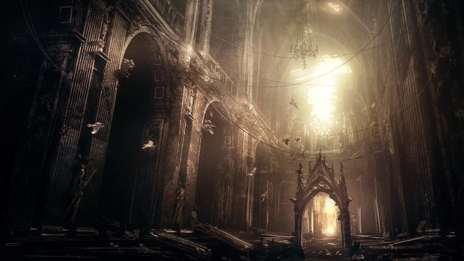 Catedral gótica abandonada