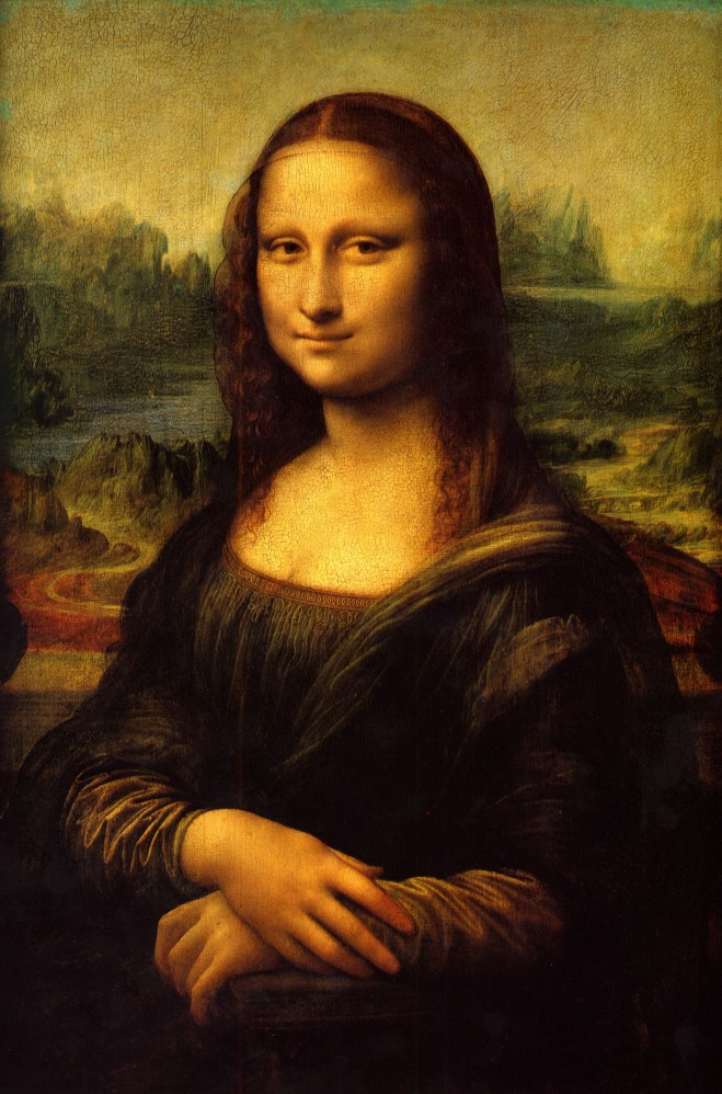 Leonardo da Vinci: The Mona Lisa (or La Joconde, La Gioconda).
