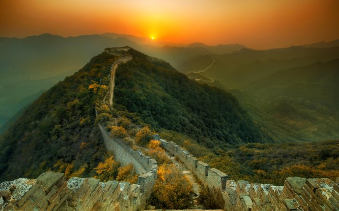 The Great Wall Of China Sunrise
