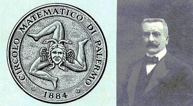 Selo do Círculo Matemático de Palermo e seu fundador Giovan Battista Guccia