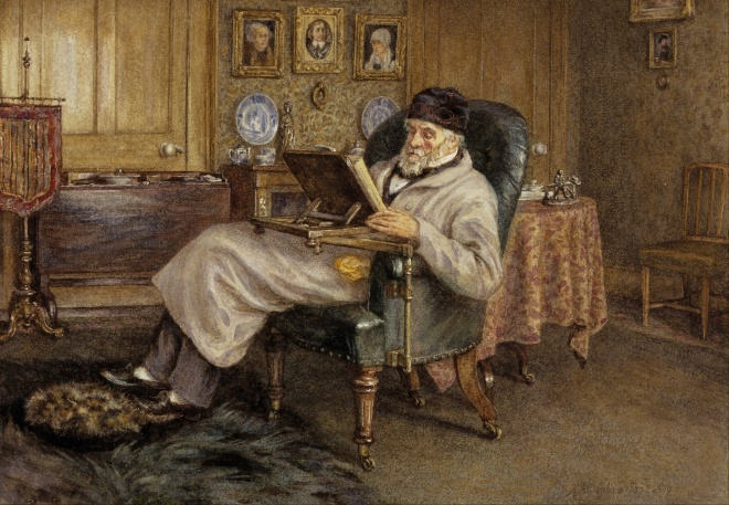 Helen Allingham's 1879 painting of Carlyle